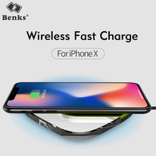 Benks Portable Qi Wireless Charger Fast Charging Pad For iPhone X 8 Plus for Samsung S9 S8 Plus Note 8 S7 S6 Edge