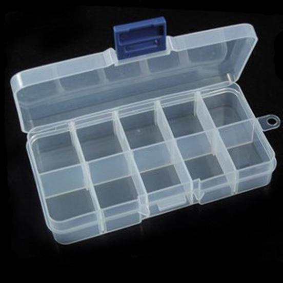 LOULEUR 7 Slots 13.2*6.8*2.3cm Plastic Jewelry Tool Box Storage Case Craft Organizer Beads Diy Jewelry Making Packaging Box
