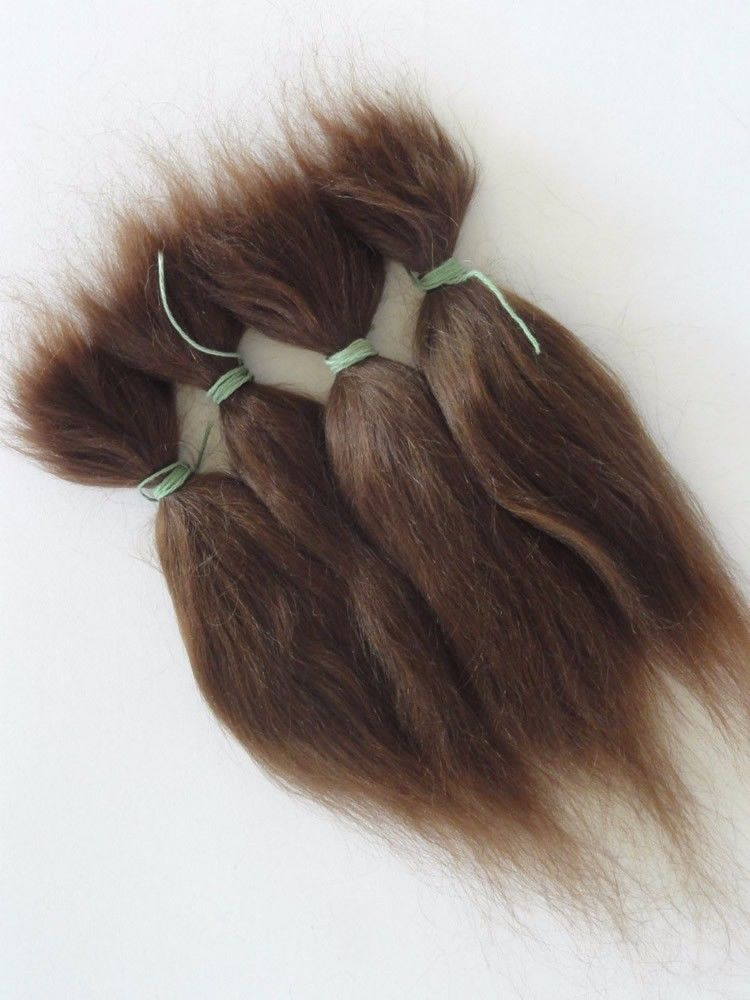 D207 15g Brown and Blonde 100% Pure Natural Mohair Doll Hair 6 Inches For Reborn Baby ...