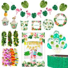 Huiran Hawaii Party Set Jungle Decoration Safari Child Birthday Tropical Show