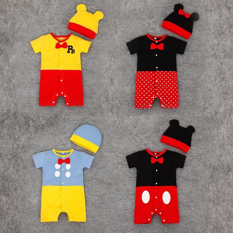 Bodys & Einteiler Ehrlichkeit Neugeborenen Baby Baumwolle Strampler 2 Stücke Baby Overalls Karton 2 Teil/satz Kleinkind Kleidung Mit Hut 0-24 M Baby Kostüm Bebe Roupas Strampelanzüge