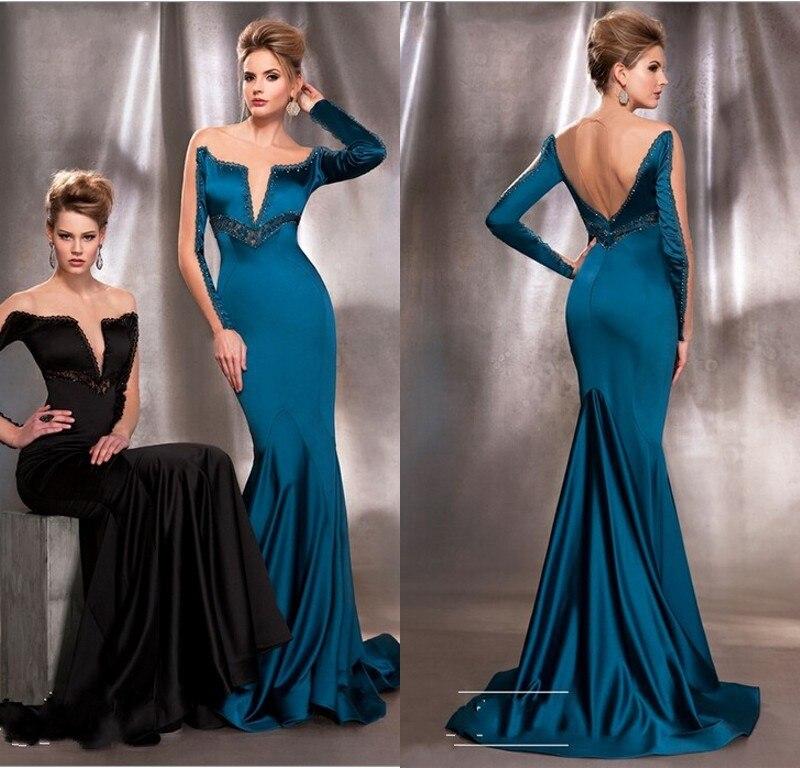 c0b7e9f3c Vestidos de noche color azul petroleo – Vestidos hermosos y de moda 2018