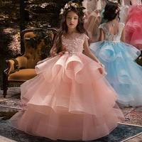 Summer Dresses 2019 New Girls Dress Girl Clothes long Vestidos Bridesmaid Children Dress Sleeveless Princess Dress for Girls
