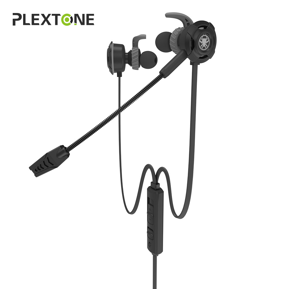 Plextone G30 PC Gaming Headset With Microphone In Ear Stereo Bass Noise Cancelling Earphone With Mic For Phone Computer Notebook led bass hd gaming headset mic stereo computer gamer over ear headband headphone noise cancelling with microphone for pc game
