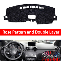 Rose Pattern For AUDI A1 2008 2009 2010 2018 Dashboard Cover Car Stickers Car Decoration Car Accessories Interior Car Decals