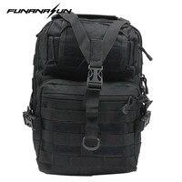 Outdoor Tactical MOLLE Sling Backpack Tactical Men S Shoulder Strp Bag Hunting Sports Chest Pack