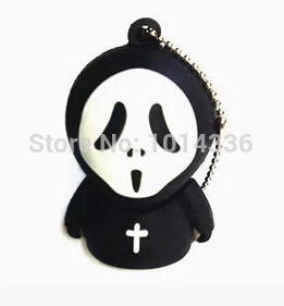 cute black Cartoon scream ghost 4GB 8GB 16GB USB Flash Drive Memory Storage Pen drive creative gift creative Pendrive S15