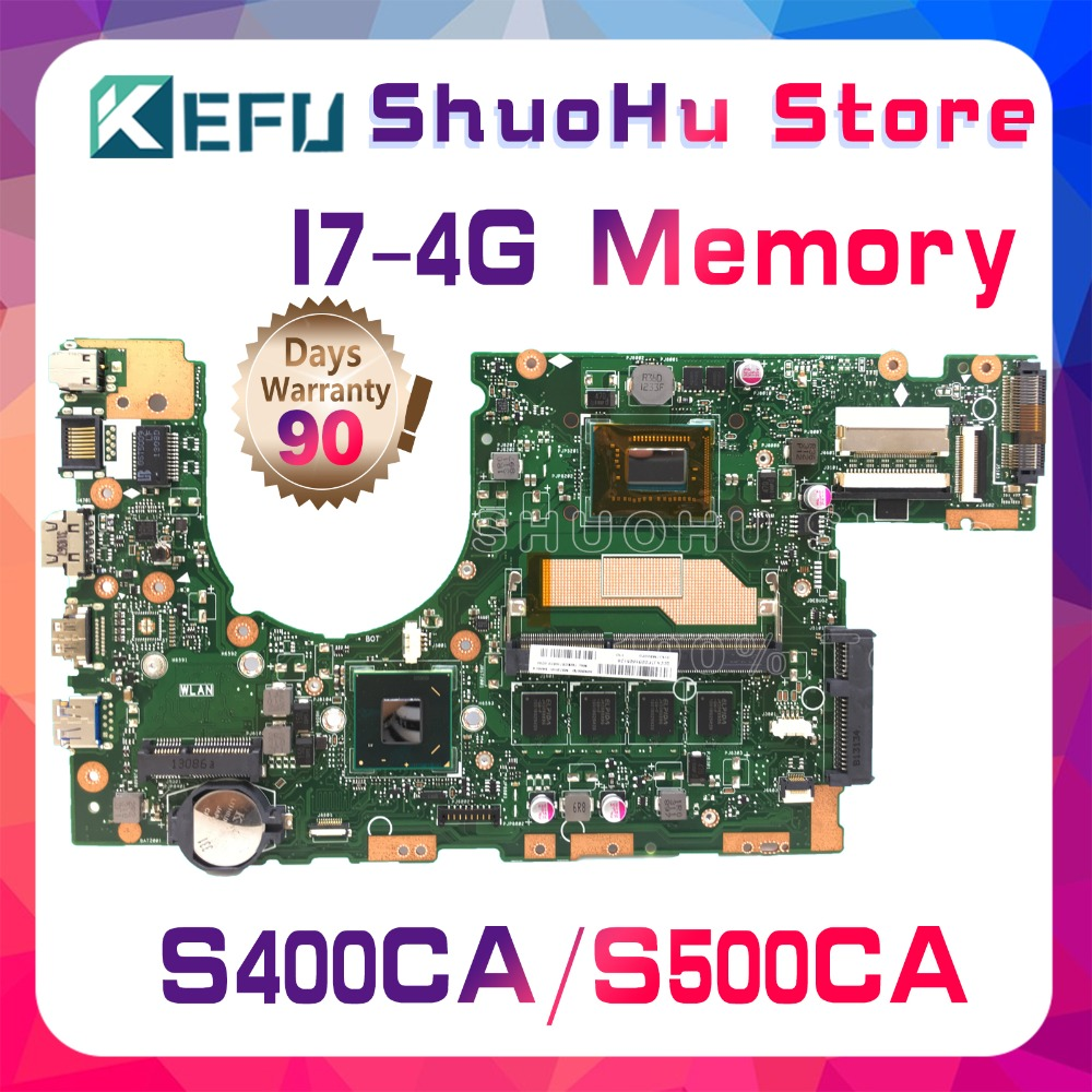 KEFU For <font><b>ASUS</b></font> <font><b>S400C</b></font> S500CA S400CA S500C CPU I7 Memory 4G laptop <font><b>motherboard</b></font> tested 100% work original mainboard image