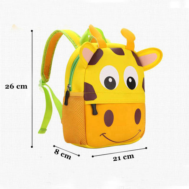 f8c1a4a6feba Online Shop 2019 New 3D Animal Children Backpacks Brand Design Girl Boys  Backpack Toddler Kids Neoprene School Bags Kindergarten Cartoon Bag