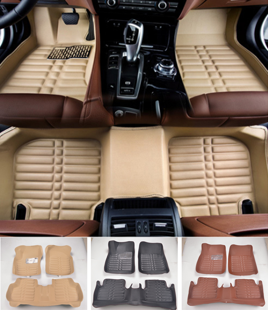 Custom Fit Car Floor Mats Front & Rear Waterproof For Honda Fit 3D All Weather Car-styling Carpet rugs Floor Liners