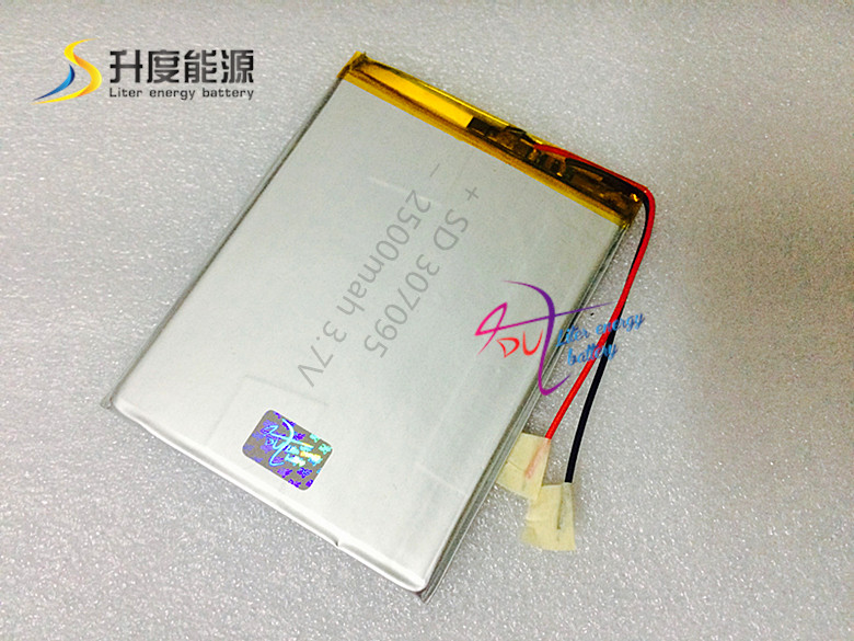 brand new battery 307095 3 7V 2500mAh Lithium polymer Battery with Protection Board For Tablet PC