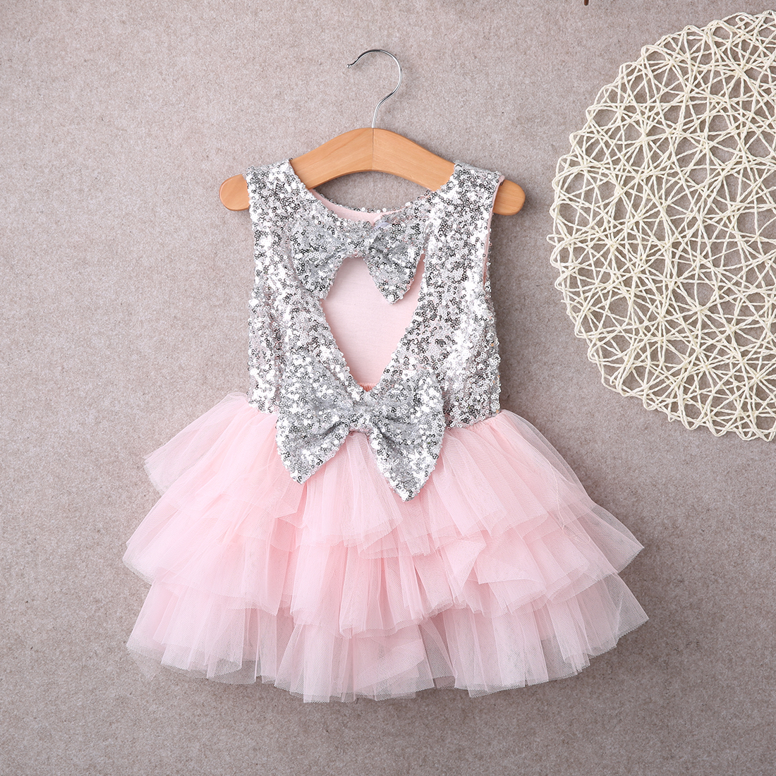 a2c28406478 Super mignon été bébé fille fleur paillettes brillante robe en ...