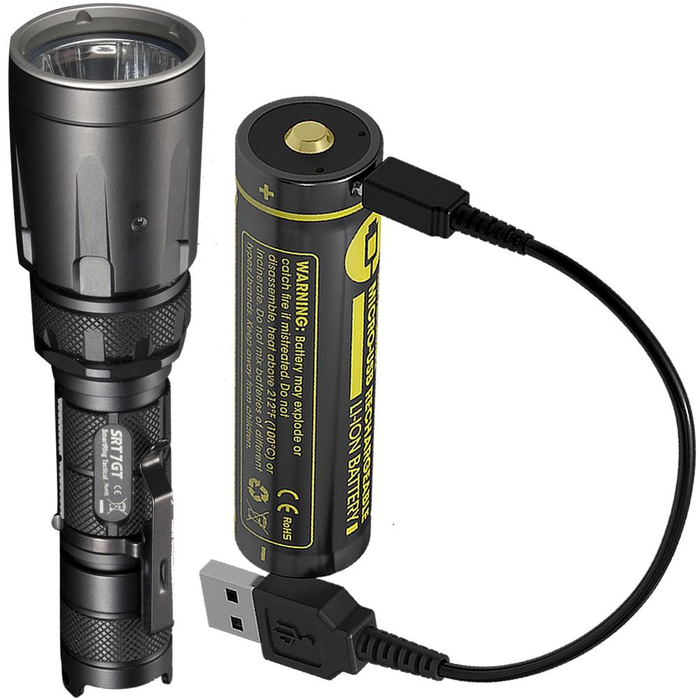 NITECORE 5 色 SRT7GT + USB 充電式バッテリークリー XP L ハイ V3 1000LM スマートリング防水懐中電灯 UV 救助トーチ  グループ上の ライト & 照明 からの LED フラッシュライト の中 1