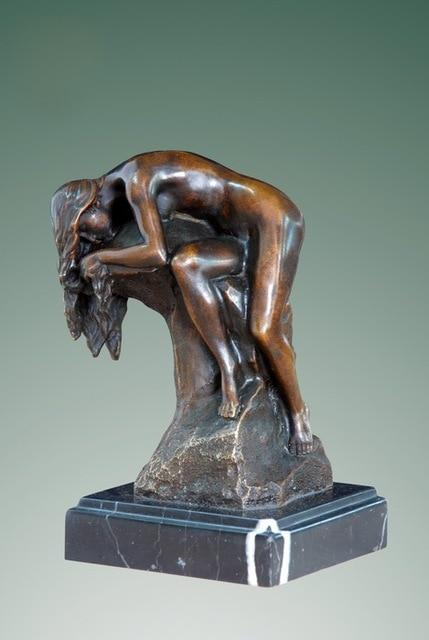 ATLIE BRONZES Bronze Statue Naked Girl Figurines Sculpture