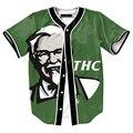 KFC Old Men Print T shirts Men Short Sleeve Cardigan Shirt Opening Buttons T-Shirt 3d M-3XL