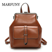 2019 Retro Hasp Back Pack Bags PU Leather Backpack Women School Bags for Teenagers Girls Luxury Small Backpacks Mochila Feminina