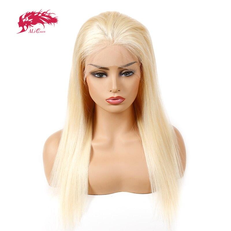 Али queen hair 613 блондинка Синтетические волосы на кружеве парики 130% плотность предварительно сорвал с волосы младенца прямо бразильский 100% на...
