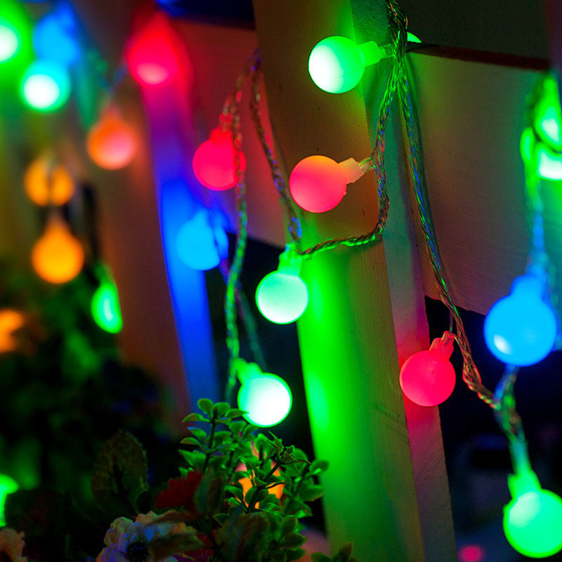 DCOO LED Ball Holiday Lighting Fairy Lights Battery Operated Festival String Lights Home Party Outdoor Indoor Wedding Decoration