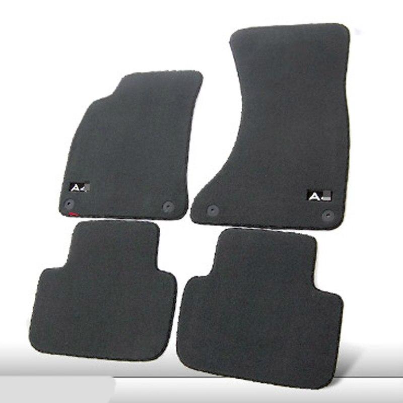 Savanini 4pcs Premium Fabric Nylon Washable Car Floor Mats