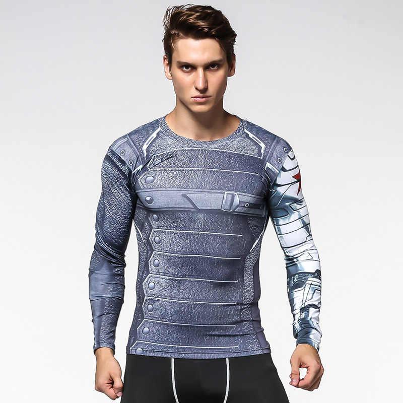 8b0bf13a ... 4XL Rashgard Sport Shirts Men Running T Shirt Spiderman Superhero  Compression Shirt Men Fitness Bodybuilding Gym ...