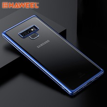 купить HAWEEL For Galaxy Note9 Full Coverage TPU Protective Back Case Simple Phone Case Cover For Samsung дешево