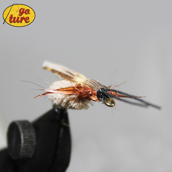 Goture fly fishing lure bait surface dry flies floating for Fly fishing lures for bass