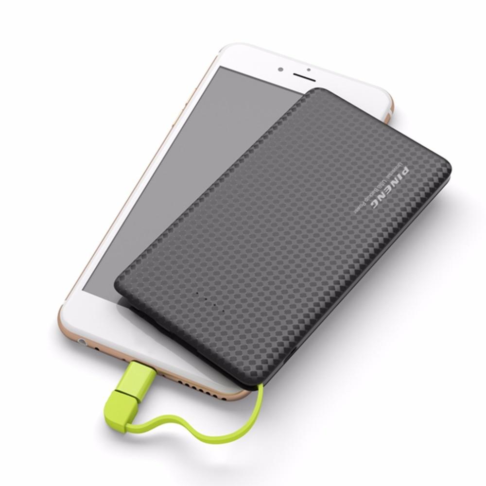 imágenes para Hot New 5000 mAh PINENG Banco Móvil Externo Del Cargador de Batería Rápido poverbank Li-polímero de La Batería S teléfonos