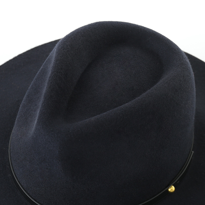 3de6563bc US $32.39 28% OFF|Muchique Fedora Wool Felt Panama Hats Black Women Winter  Floppy Hat 2017 Ladies Hats Wide Brim Vintage Hat 975011-in Fedoras from ...