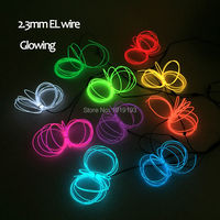 Hot 10 Colors Optional AC100 220V 2.3mm 15Meters EL wire rope tube flexible neon LED Strip light for House Festival decoration