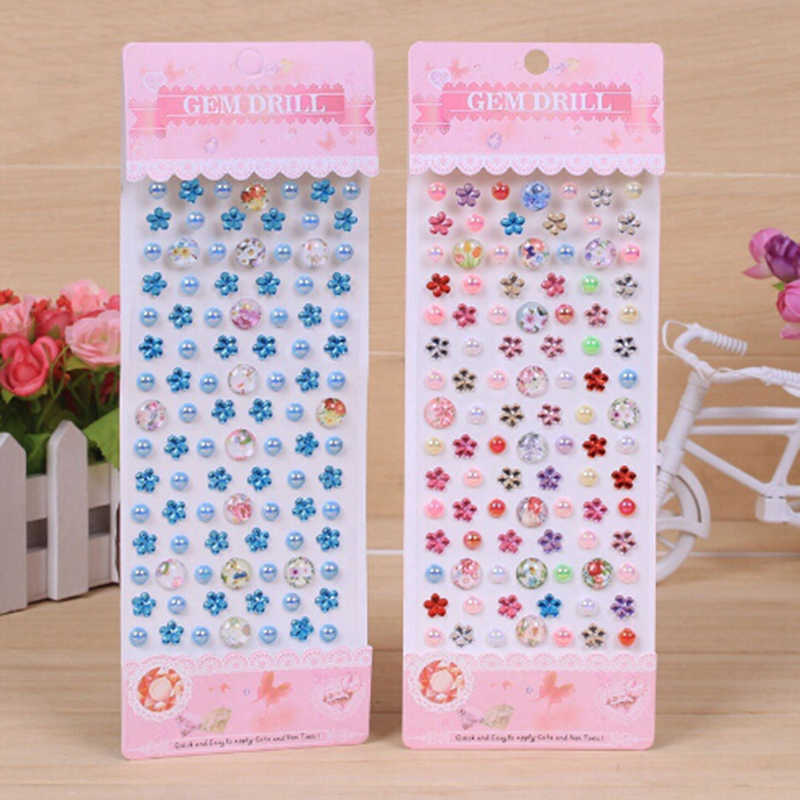 1 Vel 22.5*8 Cm Decoratieve Diamond Crystal Stone Stickers Blad Creative Kids Diy Art Ambachten Materialen Speelgoed Kinderen
