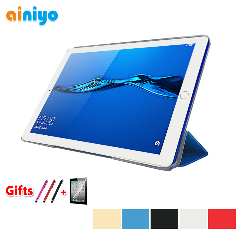 Ultra-thin Cover For Archos Core 101 3G V2 10.1 inch Tablet PU Leather Folding Stand Protective Case + free film gifts(China)