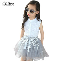 2017 Girls Clothing Sets Summer Lace Fashion Style Baby Clothes For Girls T Shirt Skirts 2Pcs