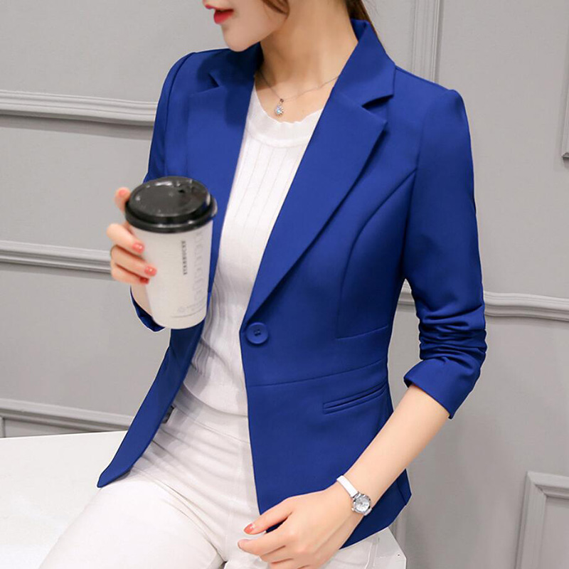 Fashion Commute Large Size Suit Jacket Long-Sleeved Solid Color One-Button Stereo Stereotypes Slim Suit Free Shipping