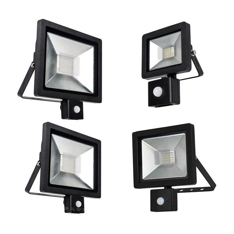 Ultrathin LED Flood Light PIR Motion Sensor Detector Waterproof Outdoor85-265V IP65 LED Motion Sensor Adjustable Floodlight