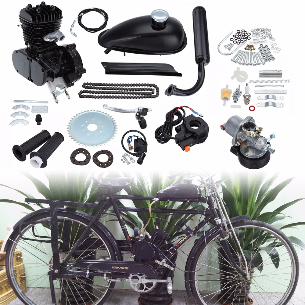 Ship from AU ! New Motorized Bicycle Bike 80cc 2 Stroke Petrol Gas Engine Motor Kit DIY EBIKE 2018 rushed 80cc 2 stroke motorized bicycle cycle petrol gas engine motor kit motorized new