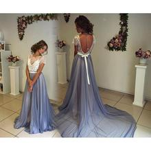 2017 Long Graduation Dresses New Lace Prom Dress Custom Cap Sleeve Chiffon Important Dress Formal Vestido