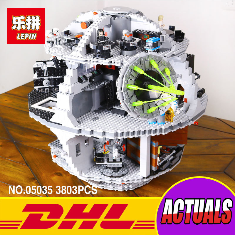 LEPIN 05035 3804pcs Genuine Star Wars Death Star Educational Building Block Bricks Toys Kits Compatible with 10188 Child Gift lepin 22001 pirate ship imperial warships model building kits block briks gift 1717pcs compatible child educational toys 10210