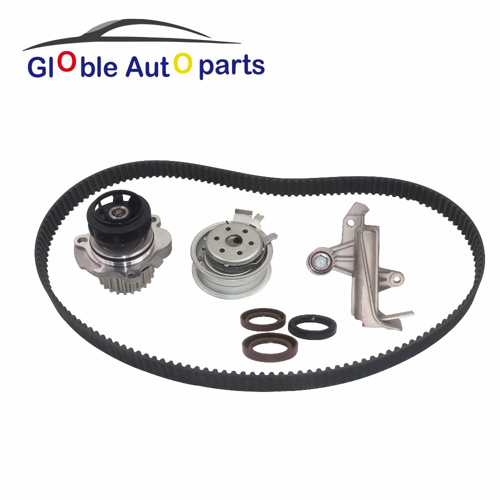 Timing Belt Tensioner & Roller & Belt & Water Pump For Car VW Audi A4 1.8T B5.5 B6 Passat 01-06 07854017 11254014 07954064 2x cam timing chain tensioner chain 058109217d for vw passat a4 quattro 1 8 058 109 217d 058 109 229 b 058109229b 058 109 217 b