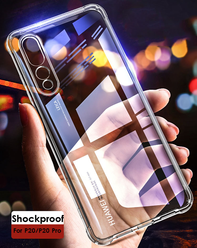 Anti Knock Shock Proof Trasparent Silicon Case For Huawei P20 Pro Case Clear Phone 360 Protective Cover For Huawei P20 Case