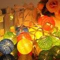1.3 M 10LED Algodón Bola Luces de la Secuencia Del Banquete de Boda de Navidad Decoración de iluminación LED de vacaciones e61201