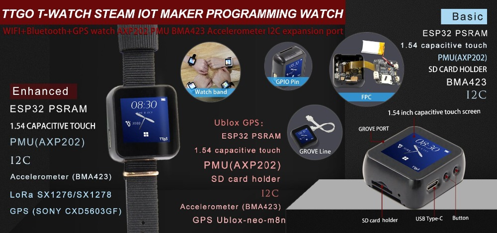 TTGO T-Watch | Hackaday io