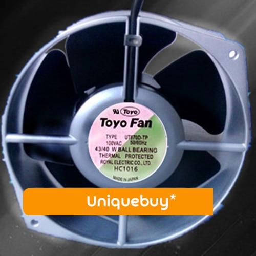 High temperature resistance for ROYAL FAN 43/40W UT670D-TP 0.48/0.42A 100V cooling fan emacro royal fan ut670d tp ac 100v 43 40w server round fan