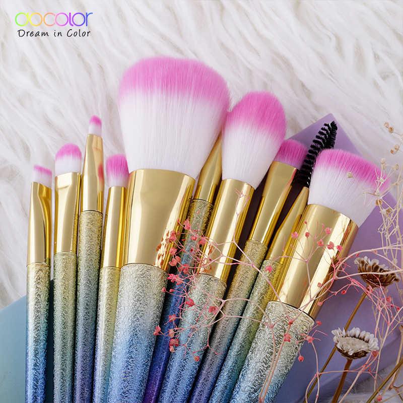 Docolor pędzle do makijażu 10 sztuk/16 sztuk makijaż Fantasy zestaw fundacja Powder Eyeshadow zestawy contour brush zestaw pędzli do makijażu