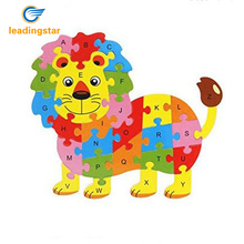 LeadingStar Wooden Cartoon Lion King Puzzle Intelligence Jigsaw 26 Letter Kid Learing Educational Toy for Kids zk30