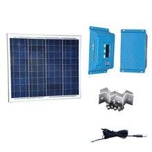 Panneau Solair 12v 50w Battery Solar Charger Controller 12v/24v 10A PWM LCD Camping Car CaravanasY Autocaravanas Lumiere Led