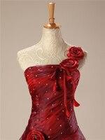 Backlackgirlエレガントホット新しい赤quinceaneraのドレス長い2018ボールガウンビーズ花ワンショルダーふくらんvestidoデビュタント甘い