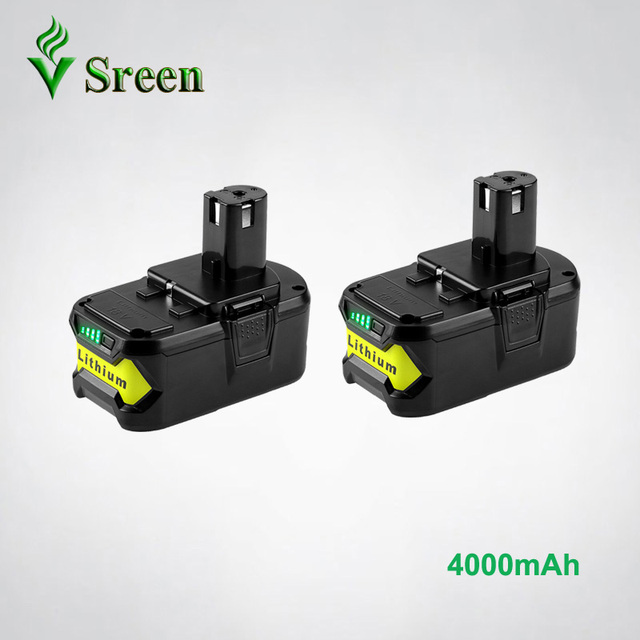 US $88 9 |2PCS New 4000mAh 18V Li ion Replacement Battery for Ryobi P108  P107 P104 Rechargeable Battery Pack Ryobi One+ BIW180 Power Tool-in