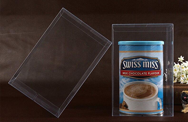 30 pcs 13*13*20 cm en plastique transparent pvc boîte d'emballage boîtes pour cadeaux/chocolat/bonbons/cosmétique/gâteau/artisanat carré transparent pvc Boîte dans Cadeau Sacs et Emballage Fournitures de Maison & Jardin