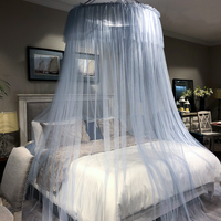 New Mosquito Net Nordic Style Lace Bed Canopy Round Hung Dome Mosquito Netting Curtain for Queen King Sized Bed Drop Shipping