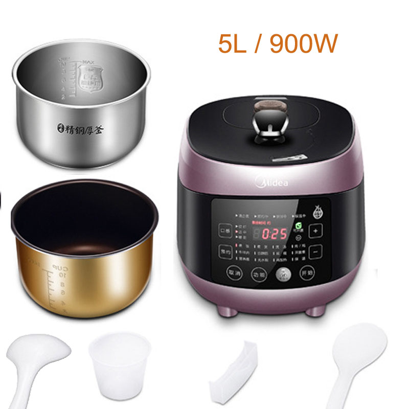 JA197 Genuine Midea WQS50B6XM Electric Pressure Cooker Double Bile Intelligent Rice Cooker Pressure Cooker 3-6 People 110v electric pressure cooker 5l double bile intelligent household electric cooking machineelectric rice cooker